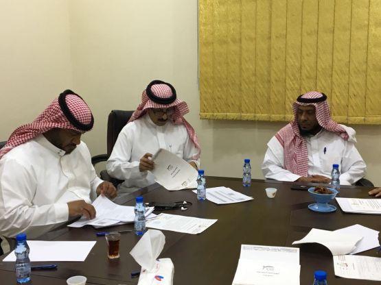 وفد من أرامكو السعودية في زيارة لجمعية الأفلاج الخيرية