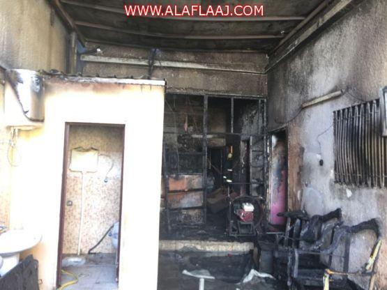 الدفاع المدني بالافلاج يسيطر على حريق بأحد المنازل