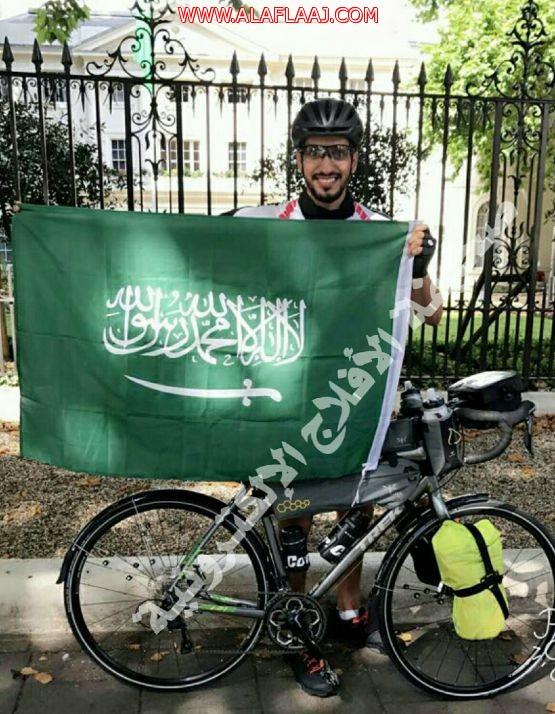 الرحالة السعودي طارق آل دحيم يجوب عدة دول أوروبية على دراجته الهوائية