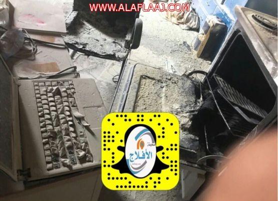 حريق في ابتدائية سويدان للبنات بالأفلاج