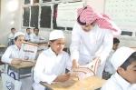 مدير مدرسه يتكفل بتقديم منح الاراضي لطلابه