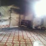 مدني الهدار يباشر حريق في أحد المنازل