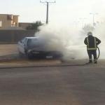 خلل فني يتسبب في إحتراق سيارة  بالافلاج