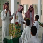 إبتدائية تحفيظ القرآن تكرم الفائزين في الإذاعة المدرسية