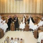 بالصور ...شعراء أمسية الأفلاج في زيارة لمنزل الشاعر فهد آل ظافر