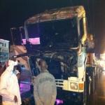 الدفاع المدني ينجح في اخماد حريق اندلع في شاحنة أثناء سيرها أمام أحد محطات  الوقود  وسط المحافظة