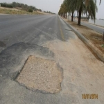 الحفريات على الطريق السريع قد تتسبب في حوادث ياوزارة النقل