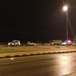 حادث لسيارة تابعة للدفاع المدني  أثر الأمطار الخفيفة على الأفلاج