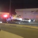 إنقلاب سياره في تقاطع مركز التنمية الإجتماعية يصيب قائد المركبة