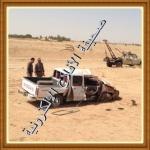 إنقلاب سيارة وإصابة قائدها وعدد من أسرته جنائيآ