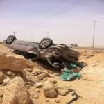 إصابة شاب في حادث مروري