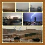 أمطار غزيرة ومتوسطة على الرياض بعد موجة غبار ومن المتوقع تعليق الدراسة غدآ