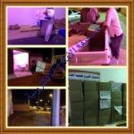 جمعية الهدار الخيريه توزع 750 سلة غذائية للأسر المسجلة في كشوفات الجمعية