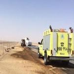 مدني اﻷفلاج يسيطر على حريق ناقلة غاز