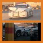 رجل أمن يتهم مرور اﻷفلاج بتعمد صدم سيارته لخلافات سابقة