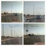 """بالصور """"صحيفة الأفلاج الإلكترونية"""" ترصد مخالفات مرورية"""