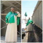 مقاول عربي يشارك أهالي اﻷفلاج احتفالات اليوم الوطني