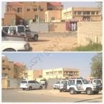 الدوريات الأمنية تنظم حركة السير أمام مسلخ البلدية