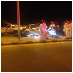 حادث مروري يخلف ثلاث إصابات