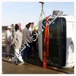 انقلاب شاحنة على طريق الملك فهد ولا إصابات