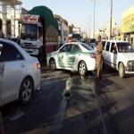 السرعة الجنونية والتهور لقائدي الشاحنات يزعج مرتادي اسواق الشارع العام في اﻷفلاج
