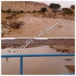 هطول أمطار متوسطة على الهدار سال على إثرها وادي الحشرج ووصل السد  (2) متر