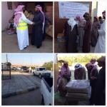 هيئة الإغاثة توزع كسوة الشتاء بالتعاون مع جمعية الهدار