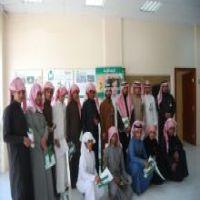 طلاب مدرسة متوسطة و ثانوية تحفيظ القران في زيارة لفرع الجمعية الخيرية لرعاية الإيتام (إنسان) بالمحافظة
