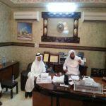 الحبشان يستقبل رئيس البلدية وعدد من مشائخ وطلبة العلم