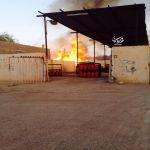 مدني الهدار يخمد حريقا اشتعل في مزرعة بجوار محل غاز