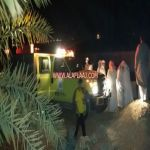 بالصور الدفاع المدني ينتشل جثة وافد آسيوي بعد غرقه بأحد مجمعات المياه بالجويفا