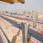 """بالصور.. البدء في تركيب الجسور بالمسار الثالث لـ """"قطار الرياض"""""""