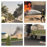 حريق في مبنى تحت الأنشاء يتسبب في تصاعد أدخنة كبيرة