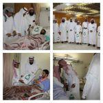 إنسان تزور المرضى المنومين بالمستشفى العام