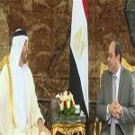 ولي عهد أبو ظبي يلتقي السيسي بالقاهرة