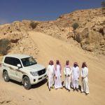 آل حسين  يدشن أعمال تطوير جبل التوباد بمحافظة الأفلاج