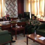 محافظ الأفلاج يستقبل مدير الجوازات الجديد تركي النتيفات