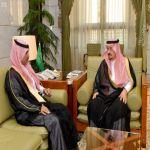 أمير منطقة الرياض يستقبل محافظ الزلفي مسفر بن غالب الضويحي