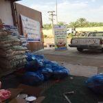 جمعية الهدار توزع سلات غذائية ورمضانية على مستفيديها