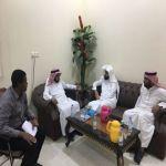 الشيخ فهد الشكرة يستقبل نائب رئيس  إرواء