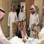خادم الحرمين الشريفين يزور الشيخ الشثري في المستشفى