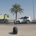 حادث ارتطام سيارة في نخلة جنوب المحافظة