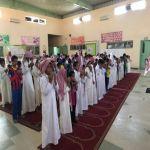 بالصور : مدارس الأفلاج تبدأ يومها الدراسي بصلاة الاستسقاء