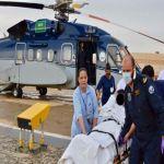 طيران الأمن يُخلي جواً حالة مرَضية من الأفلاج إلى الرياض