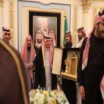 بالصور : أمير منطقة الرياض في ضيافة رجل الأعمال الشيخ راشد آل رشود