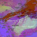 تنبيه : عاصفة غبارية باتجاه الأفلاج