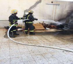 مدني الأفلاج يخمد حريقاً نشب في أحد المنازل بالمحافظة