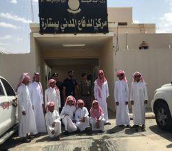 طلاب متوسطة وثانوية الغيل في زيارة للدفاع المدني بـ ستارة
