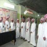 زيارة طلاب ثانوية الملك فهد لمعرض مكافحة التدخين بالمحافظة