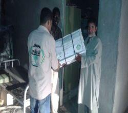 بالصور : جمعية الأفلاج تقف على معاناة عمال مشروع كليات جامعة سطام للبنات بالأفلاج